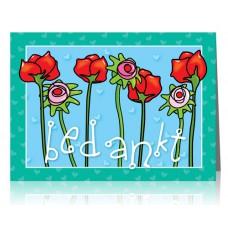 Dubbele kaart: Bloemen voor jou