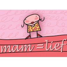 Postkaart: Mama is lief