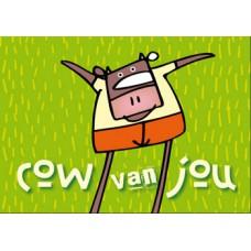 Postkaart: Cow van jou