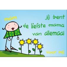 Postkaart: Liefste mama