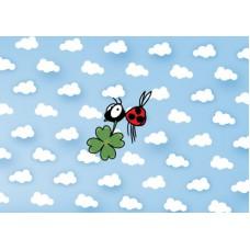 Postkaart: Geluks-lieveheersbeestje