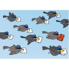 Postkaart: Postvogels