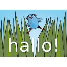 Postkaart: Vrije vogel
