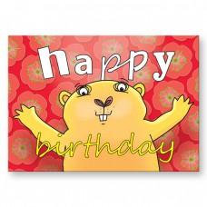Postkaart: Happy birthday