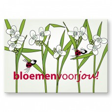 Postkaart: Bloemen voor jou