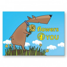 Postkaart: Flowers for you