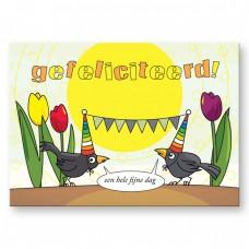 Postkaart: Gefeliciteerd