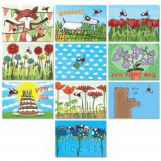 """Voordeelset: 10 postkaarten """"Lieveheersbeestjes"""""""