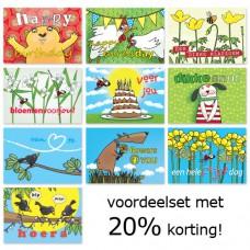 Voordeelset: 10 verjaardags-postkaarten 2
