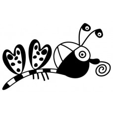 Stempel: Vlinder