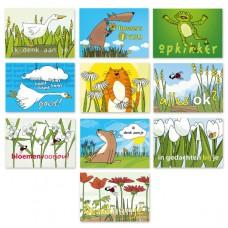 """Voordeelset:10 postkaarten """"denk aan je"""""""