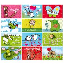 Jij is Liefje: Voordeelset (12 stuks) 'Valentijn'